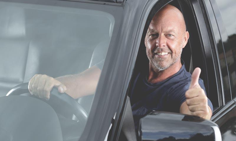 courtesy car happy customer